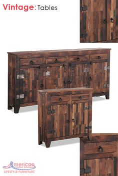 Look at the beautiful details in this vintage collection.  Adding not only beauty, function and storage to any room in your home.