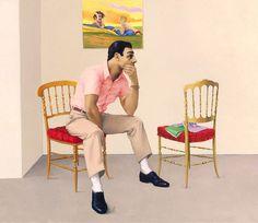 Lukas Duwenhögger, Multiple Devotions, 2000, oil on canvas. Collection Sylvia Kouvali / Luke Milne