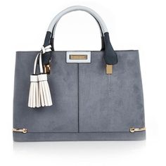 a78c7445712 River Island Light blue structured tote bag (4.335 RUB) via Polyvore  featuring bags,