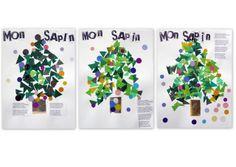 les petites têtes de l'art: Dans un coin, le sapin attend Noël...