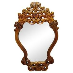 Check out this item at One Kings Lane! Hand-Carved Oak Mirror