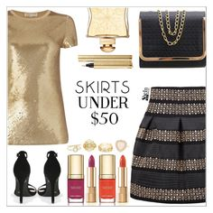"""""""Shein"""" by simona-altobelli ❤ liked on Polyvore featuring Michael Kors, Dolce&Gabbana, Hermès, Yves Saint Laurent, Charlotte Russe, under50, polyvorecontest and skirtunder50"""