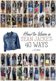 How to Wear a Jean Jacket 40 Ways! How to Wear a Jean Jacket 40 Ways!,Style A Jean Jacket styled 40 different ways – A great denim jacket is a perfect piece for any. Mode Outfits, Fall Outfits, Casual Outfits, Fashion Outfits, Fashion Hair, Halloween Outfits, Easy Halloween, Fashion Mode, Look Fashion