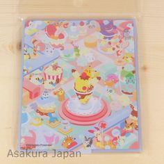 Pokemon POKEMIKKE Third Folding stand mirror B Blue Pikachu Eevee Gengar