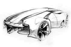 Mclaren Car Coloring Pages : Mclaren p1 gtr concept by youki kotani car sketch pinterest