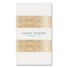 Modern Gold Faux Sparkly Sequins Makeup Artist Business Card Templates. I love this design! It is available for customization or ready to buy as is. All you need is to add your business info to this template then place the order. It will ship within 24 hours. Just click the image to make your own!