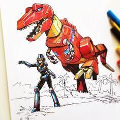 regram @matthew.s.armstrong Dinomotron GL-84z / Time Fracture 327x / current: attack mode / 4.2 causality #matthewart    #matthewarmstrong #marchofrobots #marchofrobots2018 #marchoftherobots2018 #marchoftherobots #robot #mech #battletech #robotech #transformers  #droids #warbot #warmech #knight #tknightbot #penandink #inktober #illustration #vizdev #characterdesign #mechadesign  #robotdinosaur #dinosaur #zoids #trex @copicmarker @jetpens #dinobots #grimlock