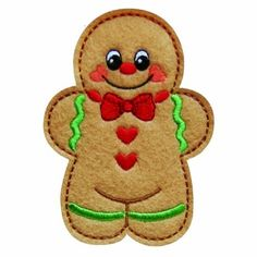 gingerbread1 - Christmas Gingerbread Machine Embroidery Design