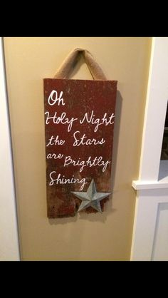 Holiday sign made from old red barn siding.