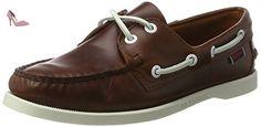 Sebago Docksides, Chaussures Bateau Femme, Marron (Brown Oiled Waxy Lea), 37 EU - Chaussures sebago (*Partner-Link)