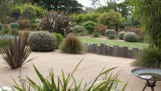 native coastal garden in Australia has been created by landscape designer Fiona Brockhoff Seaside Beach, Seaside Garden, Coastal Gardens, Garden Oasis, Bush Garden, Topiary Garden, Diy Garden, Dream Garden, Garden Beds