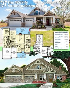 Architectural Design Exclusive Craftsman Plan 51772HZ gives you just over 2,200 square feet of heated living space PLUS a bonus floor. Ready when you are. Where do YOU want to build? #48529FM #adhouseplans #architecturaldesigns #houseplan #architecture #newhome #newconstruction #newhouse #homedesign #dreamhome #dreamhouse #homeplan #architecture #architect #housegoals #Moderncraftsman #craftsman #craftsmanstyle