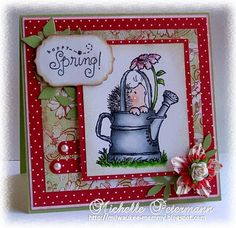 Penny Black - Spring; the watering can