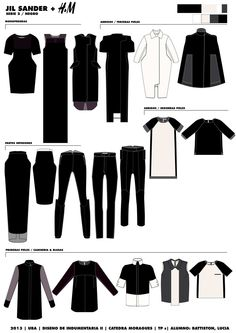 Jil Sander by Lucia Battiston on Behance - just for the garment that's second to the right on the top -