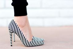 JOIE PANTS AND ALICE + OLIVIA STRIPED SHOE DREAMS - a house in the hills. It's hard not to stare at these shoes