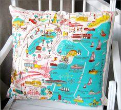 vintage milwaukee artwork pillow. <3