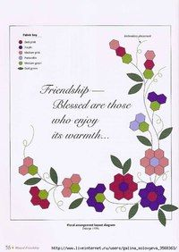 Grandmothers Garden - book on patchwork. Discussion on LiveInternet - Russian Service Online Diaries Hexagon Patchwork, Patchwork Tutorial, Hexagon Quilt, English Paper Piecing, Small Quilts, Applique Quilts, Quilt Making, Quilt Blocks, Couture