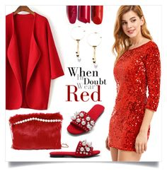 """When in Doubt Wear Red"" by mahafromkailash ❤ liked on Polyvore"