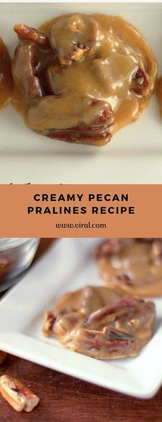 Creamy Pecan Pralines Recipe - Dessert, cake and cookies - Pecan Recipes Pecan Recipes, Candy Recipes, Snack Recipes, Dessert Recipes, Cooking Recipes, Fun Desserts, Delicious Desserts, Yummy Food, Tasty