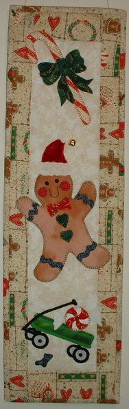 Gingerbread Jim TG19  Quilted Christmas Wall by JenKariArts, $6.50