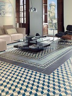 tapis vinyle carreaux de ciment collection ginette de ciment factory. Black Bedroom Furniture Sets. Home Design Ideas