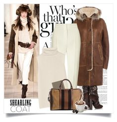 """""""Shearling coat"""" by yexyka ❤ liked on Polyvore featuring Parajumpers, Tom Ford, Vika Gazinskaya, The Row, Undercover, Gucci, Tassimo, coat and shearlingcoat"""