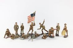 Elastolin British WWI Infantry Composition Figures Various Combat Poses 6.5/7 cm Good Condition No Box 12 Pieces http://www.oldtoysoldierauctions.com/images/auction24/3306_1.jpg