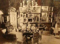 """Tsarevich Alexander Alexandrovich Romanov of Russia's Study at the Anichkov Palace. """"AL"""""""