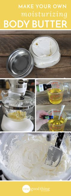 Homemade body butter that's great for dry and sensitive skin types!