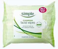 Facial wipes - these can be really handy when you don't have a shower, but you want to feel cleaner