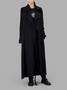 ANN DEMEULEMEESTER Ann Demeulemeester Women'S Black Long Coat. #anndemeulemeester #cloth #coats