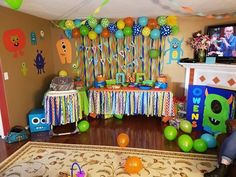 For keegans birthday Little Monster Birthday, Monster 1st Birthdays, Twins 1st Birthdays, Monster Birthday Parties, First Birthday Parties, Boys First Birthday Party Ideas, Birthday Themes For Boys, Baby 1st Birthday, Birthday Party Themes