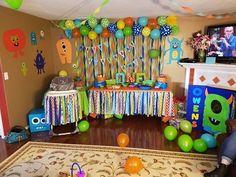 For keegans birthday Little Monster Birthday, Monster 1st Birthdays, Twins 1st Birthdays, Monster Birthday Parties, First Birthday Parties, Boys First Birthday Party Ideas, Birthday Themes For Boys, Baby Boy Birthday, Birthday Party Themes