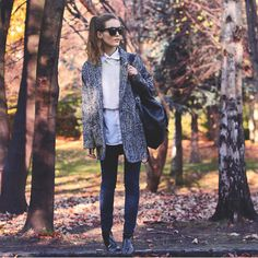 Meemee Coat, Topman Shirt, Chicwish Jumper, Guess? Jeans, Missguided Shoes, Merrin & Gussy Necklace, Zerouv Sunglasses