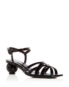 898a42469bbcc Carel Women's Patent Leather Crisscross Sphere Heel Sandals Shoes -  Bloomingdale's