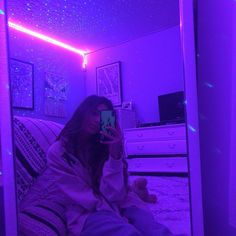 selfie lights mirror purple bedroom aesthetic led neon lighting cosentino shut wattpad