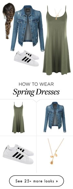 """Spring is near"" by glitterandesign on Polyvore featuring LE3NO, WearAll and adidas"