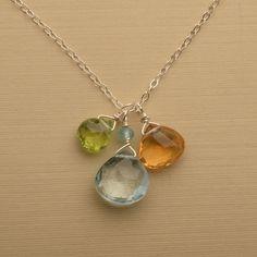 november birthstone necklace blue topaz necklace citrine by izuly