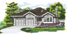 Eplans Cottage House Plan - Just Starting?  Kids Leaving? - 1424 Square Feet and 3 Bedrooms from Eplans - House Plan Code HWEPL06229