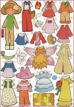 Muñecas recortables, Celia
