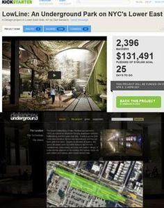 ニューヨークに今度は地下公園(LowLine)?! しかもキックスターターで10万ドルのファンディング成功 : ニューヨークの遊び方