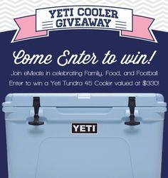 Emeals Yeti Cooler Giveaway