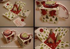 Money holder (the chimney is from a bill) pop up explosion box - Sylvia's-Kreativ-Werkstatt Sylvia Michael unabhängige Stampin'Up! Demonstratorin Kreativ Werkstatt: Ho, Ho,Ho, die Weihnachtszeit ist in den Startlöchern....