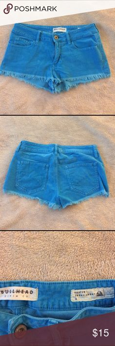 Aqua Blue Corduroy shorts  Size 5 Super cute short shorts, does cover entire butt! Soft, only worn twice! Bullhead Shorts