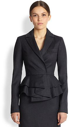 Oscar de la Renta Peplum Jacket on shopstyle.com
