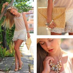 LACE AND SHELLS (by Darya Kamalova) http://lookbook.nu/look/3754539-LACE-AND-SHELLS