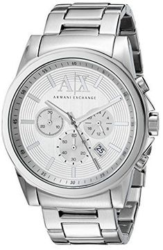 Armani Exchange Unisex Stainless Steel Watch with Link Bracelet * You can get more details by clicking on the image. Sport Watches, Cool Watches, Watches For Men, Stainless Steel Watch, Stainless Steel Bracelet, Armani Exchange Mens Watch, Well Dressed Men, Link Bracelets, Unisex