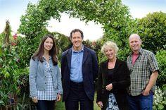 My favorite gardeners: Rachel, Monty, Carol and Joe