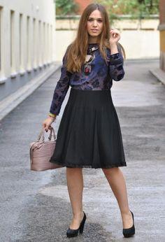 Navy/ Black  , Emporio Armani in Shirt / Blouses, Emporio Armani in Skirts, Emporio Armani in Bags