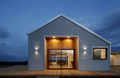 Trentham Modern Farmhouse Uses Local Materials to Fit Into the Landscape